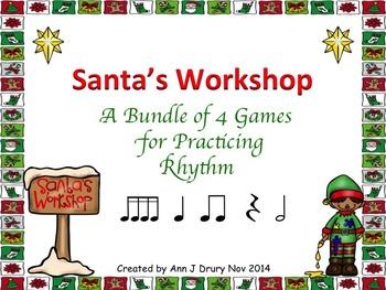 Santa's Workshop - A Bundle of 4 Games to Practice Rhythm