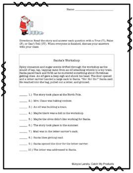 Santa's Workshop: Christmas Critical Reading Involving Accountable Talk - Gifted