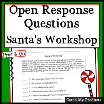 Santa's Workshop: Christmas Critical Reading Involving Accountable Talk - Gifted
