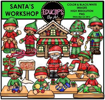 Santa's Workshop Clip Art Bundle {Educlips Clipart}