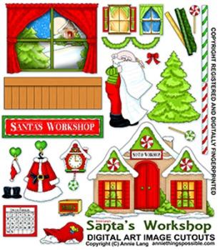 Santa's Workshop Clipart