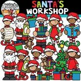 Santas Workshop Clipart {Santa Clipart}