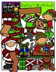 Santa's Workshop Christmas Clipart {Creative Clips Clipart}