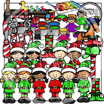 Christmas Elf Clipart Bundle