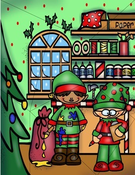 Santa's Workshop Matching, Puzzles, and Coloring Activities