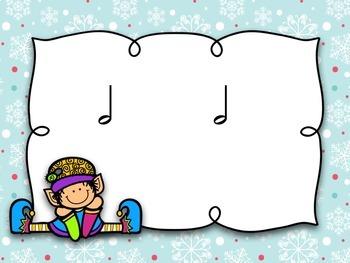 Santa's Workshop Taah / Too / Half Note {Interactive Game}