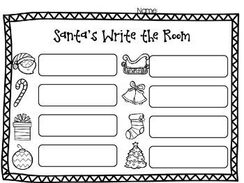 Santa's Write the Room {subtraction}