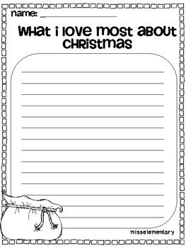 Santa's Writer's Workshop - Christmas Writing Activities