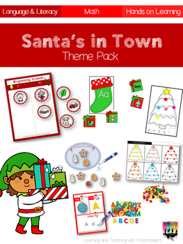 Santas in Town Language Literacy and Math Unit