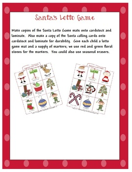 Santas in Town Lotto Game