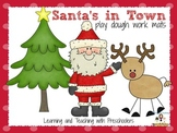 Santa's in Town Playdough Work Mats