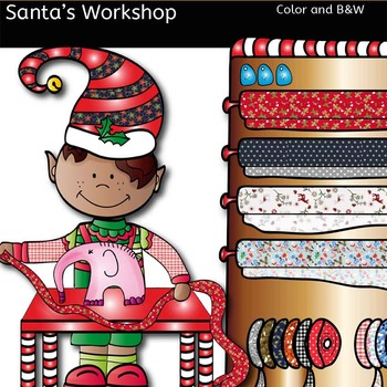 Santa's Workshop-Color and B&W- 29 items!