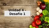 """Santillana Espanol 1, Unidad 4 Peru, Desafio 1 """"Comidas y bebidas"""""""