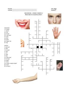 Santillana Espanol 1, Unidad 5 Espana, Desafio 1 Crossword