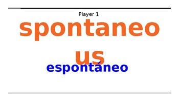 Santillana level 2 Vocab tic-tac-toe U1D2