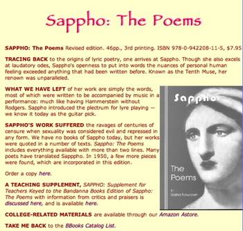 Sappho: The Poems