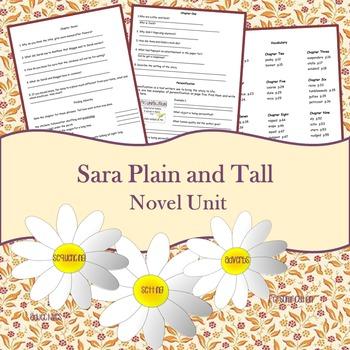 Sara Plain and Tall Novel Unit