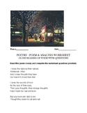 Sara Teasdale Poem - close reading, worksheet & assignment