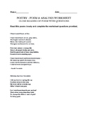 Sara Teasdale Poetry writing worksheet - alchemy & hours a