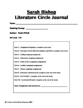 Sarah Bishop Literature Circle Journal Student Packet