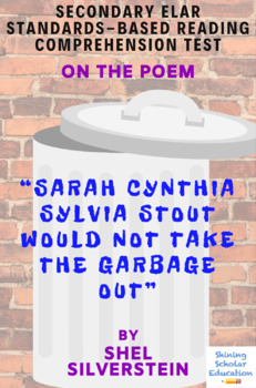 Sarah Cynthia Sylvia Stout Would Not Take the Garbage Out Shel Silverstein Test