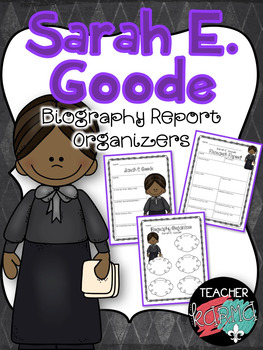 Sarah E. Goode Biography Report Organizers ~ Black History Month