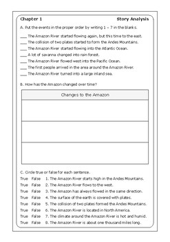 """Sarah Fabiny """"Where Is the Amazon?"""" worksheets"""