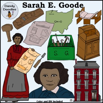 Sarah Goode Clip Art by Dandy Doodles