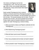 Sarah Hale Saves Thanksgiving One-Sheeter