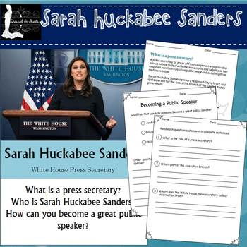 Sarah Huckabee Sanders Worksheets
