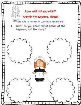Sarah Morton's Day by Kate Waters  A Complete Book Response Journal