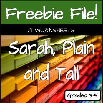 Sarah Plain and Tall - 8 Comprehension Worksheets