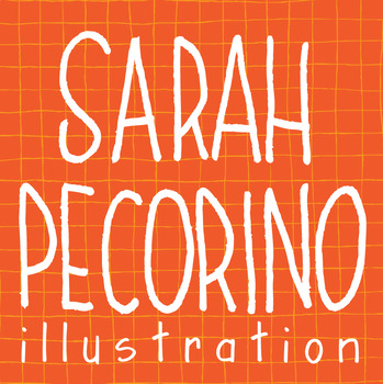 Sarah Pecorino Illustration Logo and Button