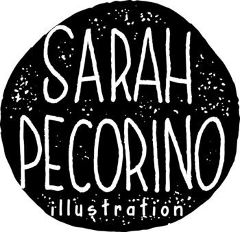 Sarah Pecorino Illustration Logo Button