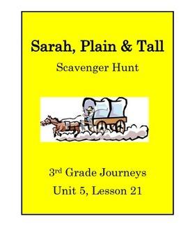 Sarah, Plain & Tall Scavenger Hunt (Journeys 3rd Grade Unit 5 Lesson 21)