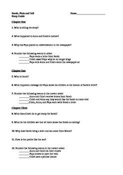 Sarah, Plain & Tall Story Guide - Ch 1-4