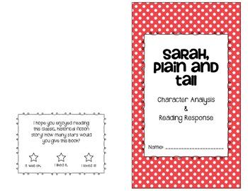 Sarah, Plain & Tall: Student Analysis Book