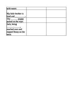 Sarah, Plain & Tall Voc Ch1-5 Worksheet