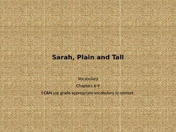 Sarah, Plain & Tall - Vocab PPT Ch. 6-9