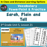 Sarah, Plain & Tall Vocabulary PowerPoint  - Aligned w/ Jo