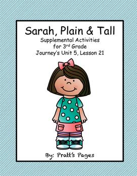 Sarah, Plain and Tall 3rd grade Journey's Supplemental Uni