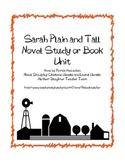 Sarah, Plain and Tall- A Novel Study, Ch. Q's, Quiz, Activities