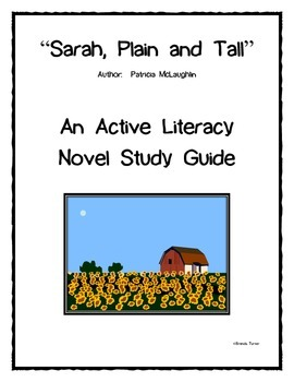 Sarah, Plain and Tall Active Literacy Novel Study Guide