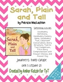 Sarah, Plain and Tall Mini Pack Activities 3rd Grade Journeys Unit 5, Lesson 21