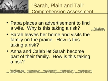 Sarah, Plain and Tall - Asking Questions - Open Court Reading