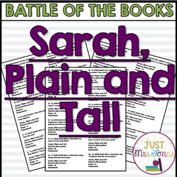 Sarah, Plain and Tall Battle of the Books Trivia Questions