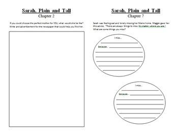 Sarah Plain and Tall Book Study