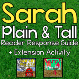 Sarah, Plain and Tall Bundle - Reader Response and Extension Activity