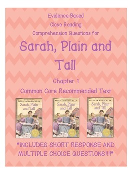 Sarah, Plain and Tall Chapter 1 Close Reading Questions