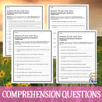 Sarah, Plain and Tall Reading Comprehension Chapter Questions
